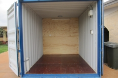 20' container modified into half ablution and half storeroom