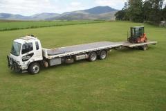Forklift and fencing materials