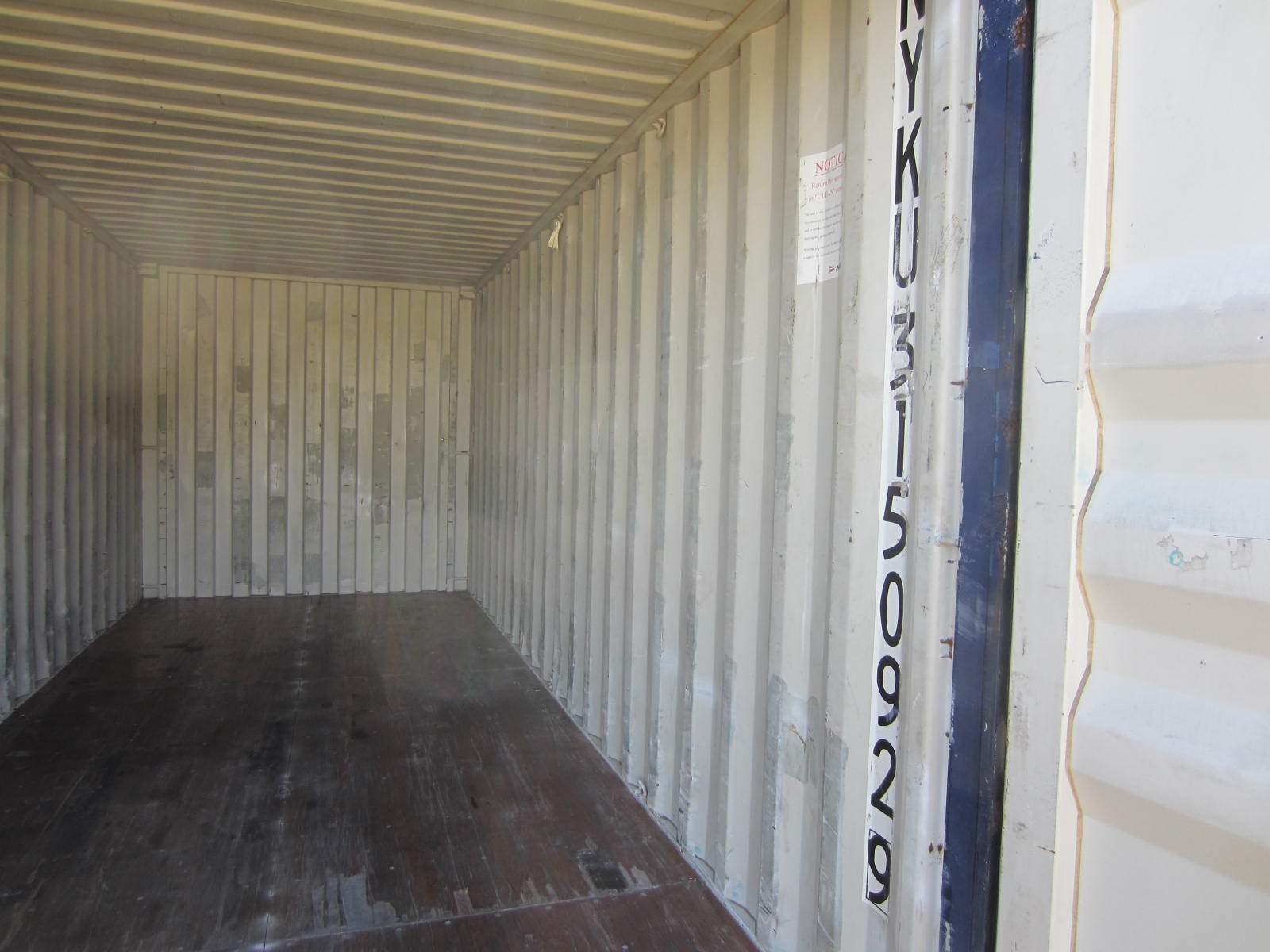 20' second hand standard height container 3