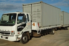 Transport of 2x 20' containers