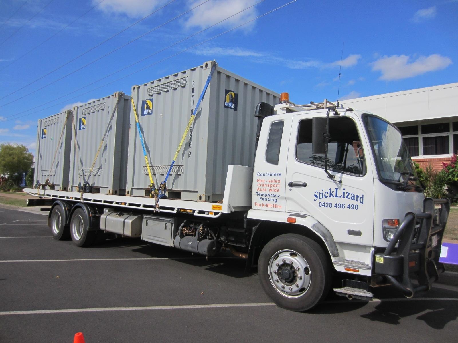 Minicube (8\') container transport