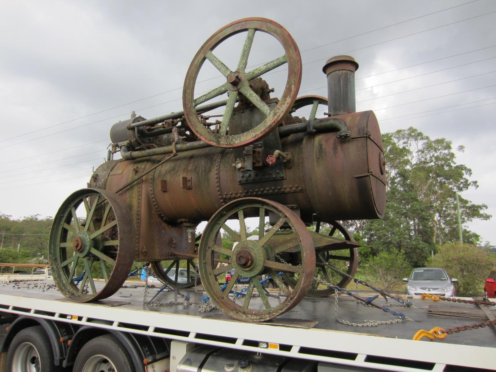 Steam engine transport