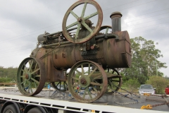 Steam engine transport