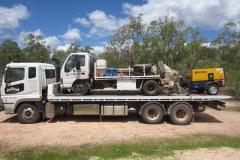 Truck trailer transport